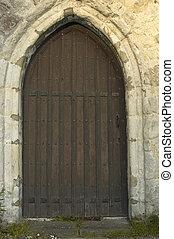 dörr, kyrka