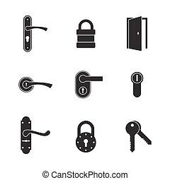 dörr lås, ikonen