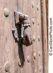 dörr, portklapp