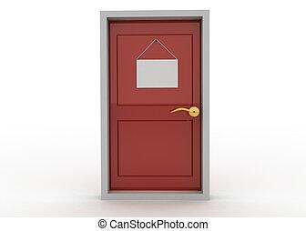 dörr, underteckna
