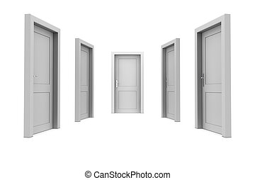 dörr, välja, grå