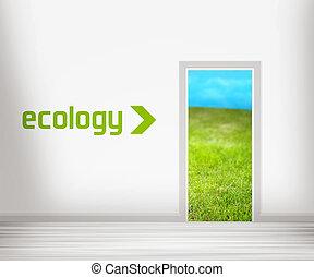 dør, til, økologi