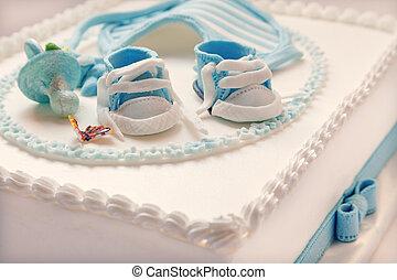 děťátko, dort, narozeniny