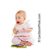 děťátko, xylofon, hraní