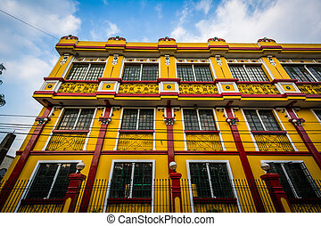 dějinný building, do, intramuros, manila, ta, philippines.