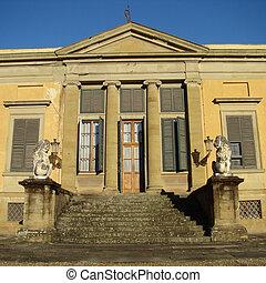 dějinný building, do, slavný, florentine, boboli, zahrada, florencie