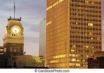 dějinný, city hall, do, louisville