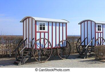 dějinný, koupel, vagón
