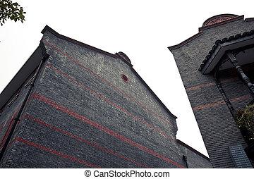 dějinný, shanghai, budova
