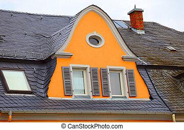 dějinný, střecha