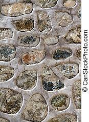 dějinný, stone stěna, tkanivo