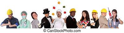 dělníci, rozmanitost