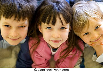 děti, šťastný