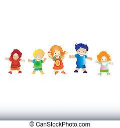 děti, hraní, šťastný
