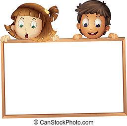 děti, showing, deska