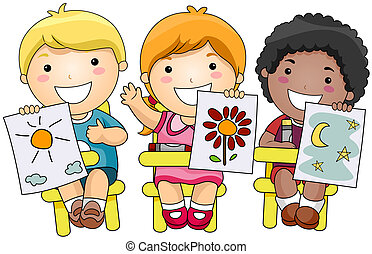 děti, umění