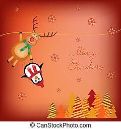 děti, vánoce, ilustrace