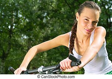 děvče, cyklistika