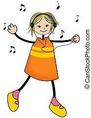 děvče, hudba