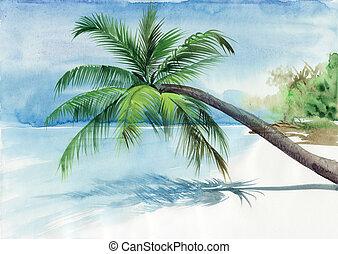 dłoń plaża, uciekanie się
