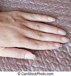 długi, fingernails