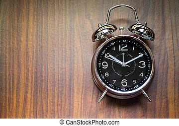 dřevěný, úzkost, grafické pozadí, hodiny