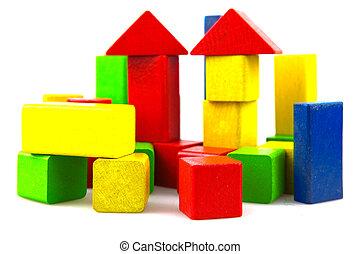 dřevěný, budovat pařez