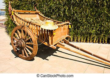dřevěný, carts.