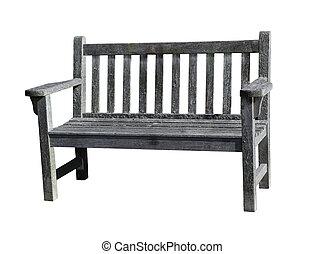 dřevěný, dávný, lavice