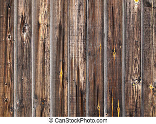 dřevěný, grunge, fošna, ohradit