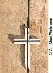 dřevěný, kříž