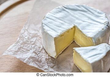 dřevěný, sýr prkna, camembert