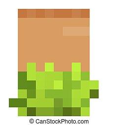 dřevěný, ukazovat, s, pastvina, osamocený, oproti neposkvrněný