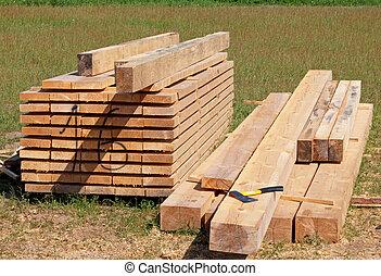 dřevo, hmota
