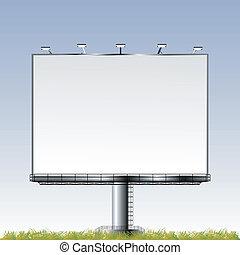 důležitý, ve volné přírodě, plakátovací tabule