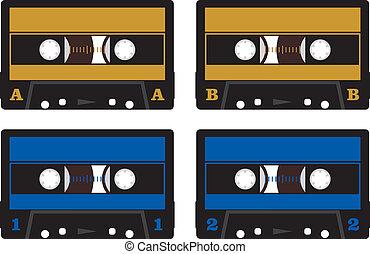 dźwiękowy, -, kasety, taśmy