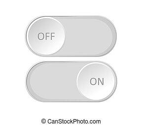 dźwignia kolankowa, ikona, od, witka, button.