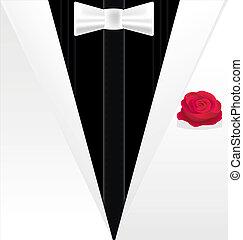 dżentelmen, black-white, tło