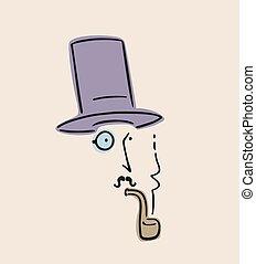 dżentelmen, palenie, zaciągnąć