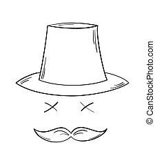 dżentelmen, wąsy