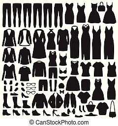dżinsy, marynarka, strój, sylwetka, fason, kobiety, koszula...