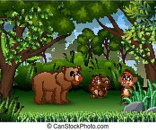 dżungla, zwierzęta, różny