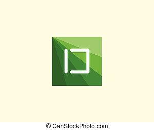 d, 抽象的なデザイン, 手紙, ロゴ, template.