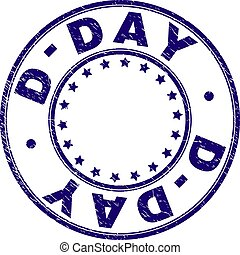d 日, グランジ, 切手, textured, シール, ラウンド