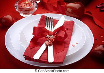 d, 概念, 宴会, 弓, 恋人, ケータリング, ろうそく, cutlery, 芸術