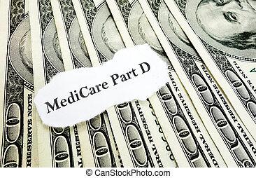 d, 돈, 부분, 의료 보장 제도