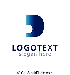 D Abstract Initial letter logo vector
