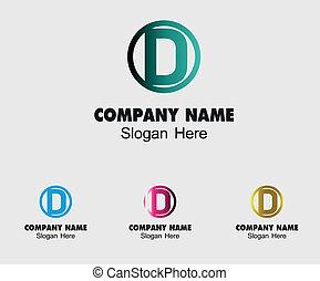 D alphabet logo vector letter D