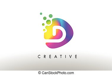 D Colorful Logo Design Shape. Purple Abstract Shape Letter Icon.