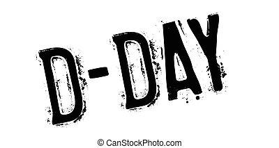 d - day, sello de goma
